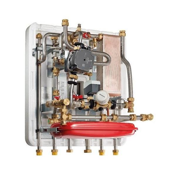 METRO System 5 fjernvarmeunit 16 KW indirekte opvarmning til montering under beholder.