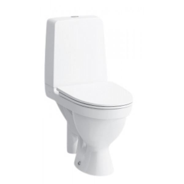 Laufen Kompas toilet, gulvstående med åben s-lås. Uden skyllerende