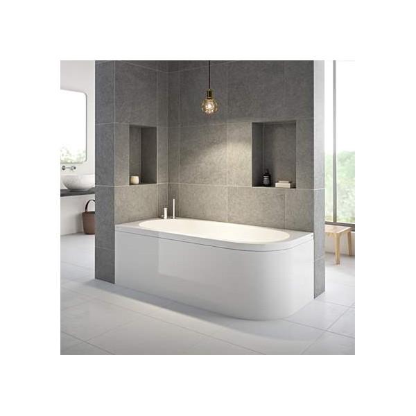 Strømberg Status rektangulær badekar 1700 x 800mm, akryl