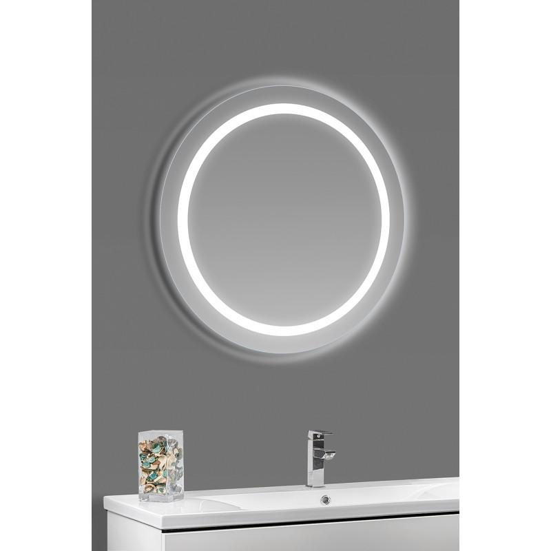 rundt spejl med lys Rundt LED spejl rundt spejl med lys