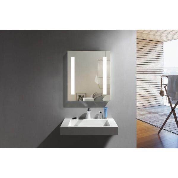 Badeværelsesspejl med LED lys 70 x 90 cm
